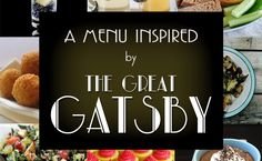 A Great Gatsby Inspired Menu