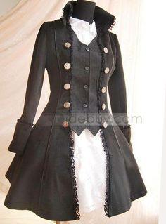 Abrigo y vestido gótico