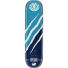 """Element Nyjah Huston Featherlight Silhouette Skateboard Deck - 7.75"""" x 30.75"""" with Jessup Die-Cut Grip Tape - Bundle of 2 items - http://shop.dailyskatetube.com/product/element-nyjah-huston-featherlight-silhouette-skateboard-deck-7-75-x-30-75-with-jessup-die-cut-grip-tape-bundle-of-2-items/ -  This professional quality Element Silhouette Deck measures 7.75"""" width x 30.75"""" length and is appropriate for each skill level from beginner to pro. A versatile usual deck that is highe"""