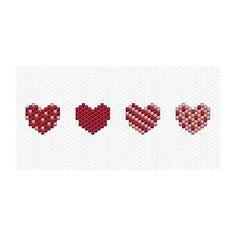 WEBSTA @ charlottesouchet - À l'approche des fêtes on a tous besoin d'amour ❤️voici donc plein de petits cœurs rien que pour vous ❤️ #perlesmiyuki #miyuki #miyukidelica #brickstitch #coeur #love #heart #amour #perles #tissage #christmas #spirit #motifcharlottesouchet Charlotte Souchet ©
