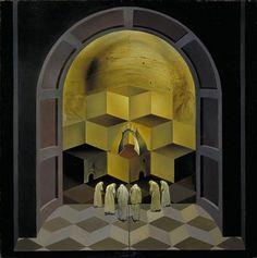 Salvador Dali / Skull of Zurbaran / 1956 / oil on canvas