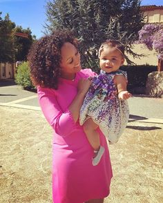 Pin for Later: Double the Cuteness: 50+ of Tia and Tamera's Sweetest Family Snaps Tamera and Ariah