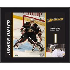 "Jonas Hiller Anaheim Ducks Sublimated 10.5"" x 13""  Plaque"