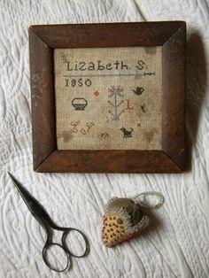 Notforgotten Farm : ~ Monday in May ~ Cute Stitch, Little Stitch, Cross Stitch Samplers, Cross Stitching, Cross Stitch Calculator, Primitive Stitchery, Needlework Shops, Sewing A Button, Vintage Textiles