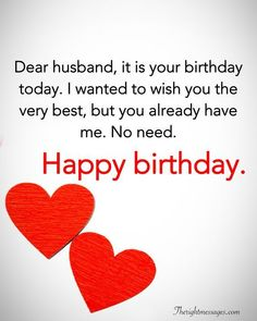 28 Birthday Wishes For Your Husband - Romantic, Funny & Poems | The Right Messages