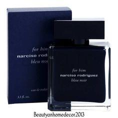 Narciso Rodriguez Bleu Noir Cologne 3.4 oz Eau De Toilette Spray for Men NIB #NarcisoRodriguez
