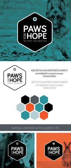 Paws for Hope Branding. Animal/Pet Charity | www.alicia-carvalho.com