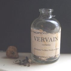 VERVAIN POTION BOTTLE So need this!    Halloween Vampire Decoration Curiosity Oddity Verbena Herb. $15.00, via Etsy.