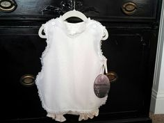 Vintage Inspired Children's Clothes  Dainty Pinafore & Girls Romper / Bodysuite