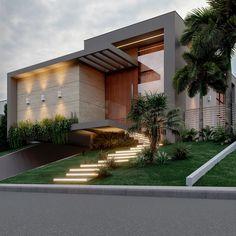 Modern House Facades, Modern Exterior House Designs, Dream House Exterior, Exterior Design, House Outer Design, Minimal House Design, House Front Design, Minimal Architecture, Modern Architecture House