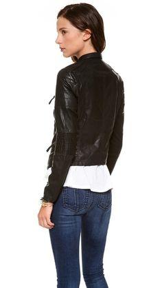 Blank Denim Vegan Moto Jacket