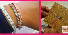 Tejiendo pulseras de la amistad, ¡las puedes hacer tú! Arts And Crafts, Diy Crafts, Artsy Fartsy, Diy Clothes, Jewelry Crafts, Weaving, Bangles, Beads, Knitting