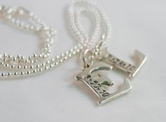 Sterling Silver Initial Letter Necklace with by LaBellinaDesign, $84.00