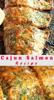 Cajun Salmon Recipe - FOODS RECIPE Seafood Boil Recipes, Cajun Recipes, Seafood Dishes, Fish Recipes, Paleo Recipes, Real Food Recipes, Cooking Recipes, Seafood Meals, Cajun Salmon