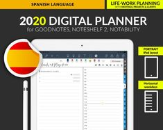 Digital Planner 2020 Goodnotes planner Digital planner for Hourly Planner, Financial Planner, Planner Pages, Weekly Planner, Planners For Men, Reading Tracker, Digital Journal, Cover Pages, Ipad