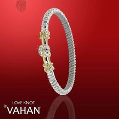 "Whether it's the girlfriend, wife, best friend or for yourself...the Love Knot bracelet is the perfect way to say ""I love you."" #vahan #gold #bracelet #timeless #jewelry #diamonds #instajewelry #style #love #beautiful #luxury #sparkle #valentinesday #stoneoak #stoneoakjewelers #stoneoak #sanantonio #satx"