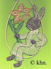 Hase OS 17 Bobbin Lace Patterns, All Craft, Easter Eggs, Crochet Earrings, Artwork, How To Make, Crafts, Rabbit, Jewelry