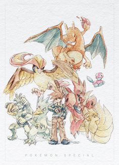 Green and his Pokemon