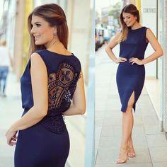 Simple and stylish dress 👗 Lovely Dresses, Sexy Dresses, Short Dresses, Summer Dresses, Cute Fashion, Girl Fashion, Fashion Outfits, Womens Fashion, Mom Dress
