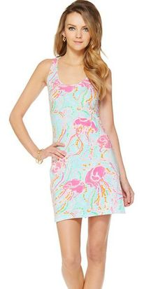 Cordon Dress in Spa Blue with the Jellies Be Jammin print
