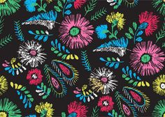 Hand Painted Floral Pattern Background - http://www.welovesolo.com/hand-painted-floral-pattern-background/
