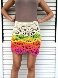Crochet Mini Skirt Pattern by MyBeautifulStuff on Etsy