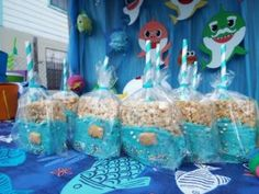 Baby Hai Dessert Tisch - Creat a underwater world - Welcome Baby Shark Birthday Cakes, Baby Boy 1st Birthday, 3rd Birthday Parties, Birthday Ideas, 1st Birthday Themes, Mermaid Birthday, Baby Hai, Mo S, Cookies Et Biscuits