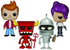 Take off into space with the Planet Express crew with Funko's new POP! Futurama Vinyl Figures!Based on the fan-favorite animated series, these figures of Fry, Leela, Bender, and the Robot Devil stand