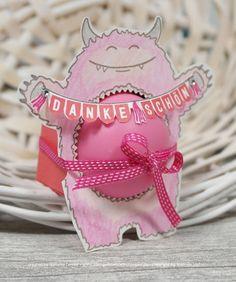 Yummy in my Tummy, Rosa Monster mit dickem Bauch, Lippenbalsam, Schwangerschaft, Dankeschön, kleines Geschenk, DIY, Stampin`Up!, Stempelkrempelmitpapier