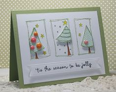 From Hey There .... rosigrl: Penny Black's Festive Forest stamp set