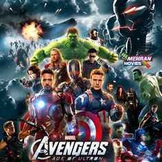 The Avengers Age Of Ultron 2015 Hollywood Movie Poster Hd Mehran Dvd Movies 03022444894