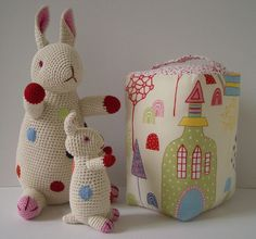 Rabbits by Anne Claire Petit, fabric on block by Sandberg of Sweden.