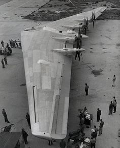 Latest U.S. Bomber, the Northrup Flying Wing XB-35.