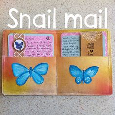 Sharing some of your creative pen pal letters! Snail Mail Gifts, Snail Mail Pen Pals, Pen Pal Letters, Pocket Letters, Diy Paper, Paper Crafts, Fun Mail, Envelope Art, Mail Art
