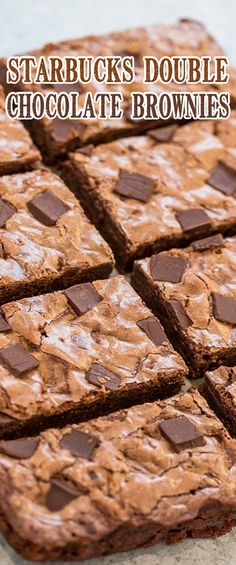 Starbucks Double Chocolate Brownies Dessert Cake Recipes, Cookie Desserts, Sweet Desserts, Brownie Recipes, Dessert Bars, Easy Desserts, Sweet Recipes, Cookie Recipes, Delicious Desserts
