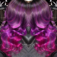 Absolutely breathtaking Beautiful color melt by Hot Beauty Magazine Beauty Makeup, Hair Makeup, Hair Beauty, Purple Ombre, Magenta, Color Melting, Beauty Magazine, Mermaid Hair, Crazy Hair