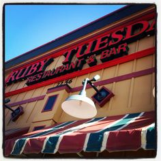 "Ruby Tuesday - where we were ""set up"""