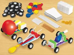 Design & Play STEAM Cars Kit - Our craft kit lets children create and customize balloon-powered cars—for a fun-filled introduction to early STEAM concepts!
