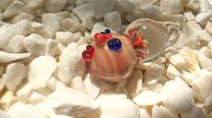 implosion lampwork borosilicate glass sculptured pendant