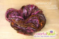 Funky Chunky Handspun Yarn by Colorful Nest in Whimsical on Etsy
