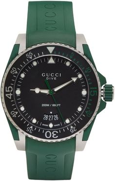 Gucci Green & Silver Dive Watch