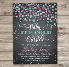 A personal favorite from my Etsy shop https://www.etsy.com/ca/listing/253920218/chalkboard-baby-its-cold-out-side-baby