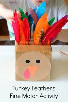 Turkey fine motor activity for toddlers and preschoolers that teaches color recognition, counting and patterning! Thanksgiving kids arts and crafts - kids activities Thanksgiving Activities For Kids, Autumn Activities, Toddler Activities, Thanksgiving Turkey, Thanksgiving Desserts, Holiday Fine Motor Activities, Fall Activities For Preschoolers, Thanksgiving Prayer, Thanksgiving Outfit