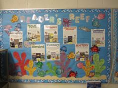 "pinterest bulletin board ideas under the sea | This is in our library ""Reader's Reef"". Displays all different type of ..."