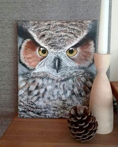 owl acrylic painting ♡ instagram: _anninymous_