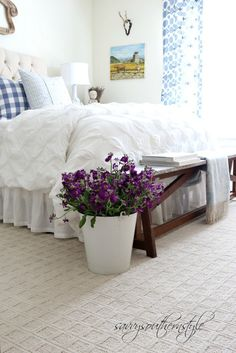Savvy Southern Style: Adding Color and Pattern in the Guest Room