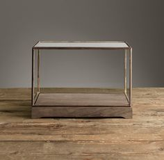 RH's Specimen Display Case Rectangular:Clean, simple lines make this glass-and-wood case the perfect showcase for viewing treasured objects, geological marvels or museum-quality arrangements from any angle.
