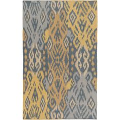 Found it at Wayfair - Wanderer Teal/Gold Area Rug