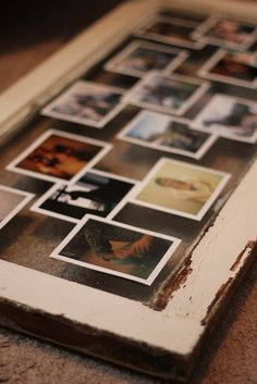 I've been wanting to do something like this to merge husband and my photos!! Dashboard Diary: Polaroids + Window Frame