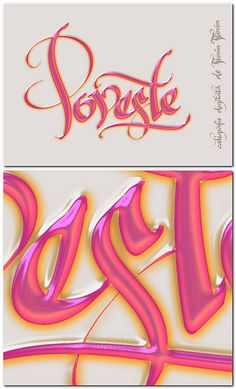 Calligraphy by Florin Florea. The word Poveste means Story, maybe more like a Fairy Tale.